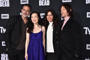 """Jeffrey Dean Morgan, Angela Kang, Sarah Barnett and Norman Reedus attend the Season 10 Special Screening of AMC's """"The Walking Dead"""" at Chinese 6 Theater– Hollywood on September 23, 2019 in Hollywood, California."""