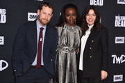 """Scott Gimple, Danai Gurira and Sarah Barnett attend the Season 10 Special Screening of AMC's """"The Walking Dead"""" at Chinese 6 Theater– Hollywood on September 23, 2019 in Hollywood, California."""