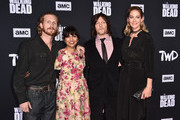 "Austin Amelio, Karen David, Norman Reedus and Jenna Elfman attend the Season 10 Special Screening of AMC's ""The Walking Dead"" at Chinese 6 Theater– Hollywood on September 23, 2019 in Hollywood, California."