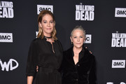 "Jenna Elfman and Melissa McBride attend the Season 10 Special Screening of AMC's ""The Walking Dead"" at Chinese 6 Theater– Hollywood on September 23, 2019 in Hollywood, California."
