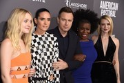 """(From left) Actors Dakota Fanning, Jennifer Connelly, Ewan McGregor, Uzo Aduba and Valorie Curry attend a special screen of the Lionsgate's """"American Pastoral,"""" October 13, 2016 at the Samuel Goldwyn Theater in Beverly Hills, California..  / AFP / Robyn Beck"""