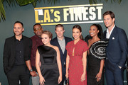 "(L-R) Joshua Alba, Duane Martin, Sophie Reynolds, Zach Gilford, Jessica Alba, Gabrielle Union, and Ryan McPartlin attend Spectrum Originals and Sony Pictures Television Premiere Party for ""L.A.'s Finest"" at Sunset Tower on May 10, 2019 in Los Angeles, California. The series premieres on Monday, May 13."