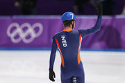 Sven Kramer of the Netherlands reacts after qualifying during the Men's Speed Skating Mass Start Semifinal 2 on day 15 of the PyeongChang 2018 Winter Olympic Games at Gangneung Oval on February 24, 2018 in Gangneung, South Korea.
