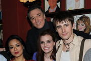 """Actors T.V. Carpio, Patrick Page, Jennifer Damiano and Reeve Carney attend the pre-cocktail reception for the """"Spider-Man Turn Off the Dark"""" special Broadway preview performance benefitting the Actors Fund at Sardi's on February 3, 2011 in New York City."""