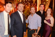 (L-R) Actor Joseph Gordon-Levitt, actor Russell Crowe, director Zack Snyder, actor Henry Cavill, and actress Amy Adams attend Spike TV's Guys Choice 2013 at Sony Pictures Studios on June 8, 2013 in Culver City, California.