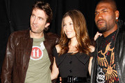 "Actors Sharlto Copley, Jessica Biel and Quinton Jackson attend Spike TV's 4th Annual ""Guys Choice Awards"" held at Sony Studios on June 5, 2010 in Los Angeles, California."