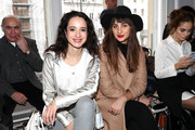 (L-R) Stephanie Stumph and guest attend the Sportalm show during the Mercedes-Benz Fashion Week Berlin A/W 2017 at Kaufhaus Jandorf on January 18, 2017 in Berlin, Germany.