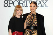 Teen Vogue Editor-In-Chief Amy Astley (L) and model Bella Hadid attend Sportmax and Teen Vogue Celebrate The Fall/Winter 2014 Collection at Sportmax on October 28, 2014 in New York City.