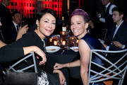 Ann Curry and Megan Rapinoe attend the Sports Illustrated Sportsperson Of The Year 2019 at The Ziegfeld Ballroom on December 09, 2019 in New York City.