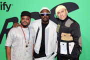 (L-R) apl.de.ap, will.i.am, and Taboo attend the 2020 Spotify Awards at the Auditorio Nacional on March 05, 2020 in Mexico City, Mexico.
