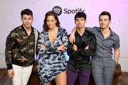Spotify Hosts A Carnival Of Happiness For The Jonas Brothers And Their Top Listeners To Celebrate The Launch Of Their New Album Happiness Begins on June 06, 2019 in New York City.