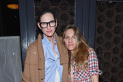 Fashion designer Jenna Lyons (L) and girlfriend Courtney Crangi pose for a picture as Spring celebrates #SpringIntoLove at The Standard on February 4, 2015 in New York City.