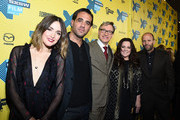 """(L-R) Actress Rose Byrne, actor Bobby Cannavale, director Paul Feig, actress Melissa McCarthy and actor Jason Statham arrive at the premiere of """"Spy"""" during the 2015 SXSW Music, Film + Interactive Festival at the Paramount on March 15, 2015 in Austin, Texas."""
