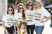 Lucy Hale, Dave Annable; JoAnna Garcia Swisher; Sailor Swisher, Odette Anable and Elisabeth Rohm attend St.Jude Walk/Run Hosted By Lucy Hale at Paramount Studios on September 22, 2018 in Hollywood, California.