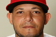 Yadier Molina #4 poses for a portrait during St Louis Cardinals Photo Day at Roger Dean Stadium on February 20, 2017 in Jupiter, Florida.