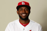 Dexter Fowler #81 poses for a portrait during St Louis Cardinals Photo Day at Roger Dean Stadium on February 20, 2017 in Jupiter, Florida.