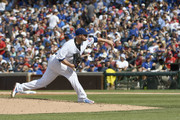 Jon Lester #34 of the Chicago Cubs pitches against the St. Louis Cardinals during the fifth inning on July 22, 2017 at Wrigley Field  in Chicago, Illinois.