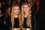 Actresses Cloe Mackie and Holly Mackie attend the World premiere of 'St Trinian's 2: The Legend of Fritton's Gold' at the Empire Leicester Square on December 9, 2009 in London, England.