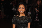 Simger Dionne Bromfield attends the World premiere of 'St Trinian's 2: The Legend of Fritton's Gold' at the Empire Leicester Square on December 9, 2009 in London, England.