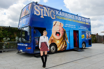Stacey Solomon Stacey Solomon Launches the Nationwide 'Sing' Karaoke Bus Tour in Aid of Chickenshed