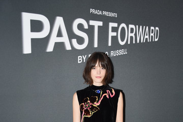 Stacy Martin Prada Presents 'Past Forward' by David O. Russell - New York Screening