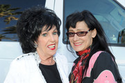 Singers Wanda Jackson (L) and Rosie Flores pose backstage during 2011 Stagecoach: California's Country Music Festival at the Empire Polo Club on May 1, 2011 in Indio, California.