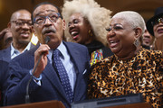Herb Wesson and Luenell attends the Stand UP: The Art And Politics Of Comedy Opens The City Of Los Angeles' Black History Month Celebration at Los Angeles City Hall on February 04, 2020 in Los Angeles, California.