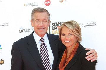 Brian Williams Katie Couric Stand Up To Cancer - Arrivals