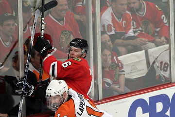 Ian Laperriere Stanley Cup Finals - Philadelphia Flyers v Chicago Blackhawks - Game One