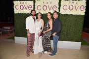 David Hew and Zani Gugelmann pose with guests at the weekend opening of The NEW ultra-luxury Cove Resort at Atlantis Paradise Island on November 4, 2017 in The Bahamas.