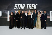 "Kirsten Beyer, Alex Kurtzman, Michelle Hurd, Sir Patrick Stewart, Akiva Goldsman, Jeri Ryan, Michael Chabon, Evan Evagora, Isa Briones, Jonathan Del Arco and Harry Treadaway attend the ""Star Trek Picard"" UK Premiere at Odeon Luxe Leicester Square on January 15, 2020 in London, England."