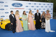 Antonio Banderas, Nicole Kimpel, Sandra Garcia-Sanjuan, Barbara Kimpel and Anne Igartiburu attend Starlite Gala on August 11, 2019 in Marbella, Spain.