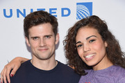 Kyle Dean Massey (L) and Ciara Renee attend 'Stars In The Alley' at Shubert Alley on May 21, 2014 in New York City.