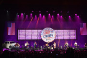"""Jon Pardi, Maren Morris and Ryan Hurd perform on stage during """"Stars and Strings Presented by RAM Trucks Built to Serve,"""" a RADIO.COM Event, at the Fox Theatre on November 06, 2019 in Detroit, Michigan."""
