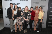 (L-R) Carlos Miranda, Melissa Barrera, Chelsea Rendon, Ser Anzoategui, Mishel Prada and Roberta Colindrez attend the Starz 2019 Winter TCA Panel & All-Star After Party on February 12, 2019 in Los Angeles, California.