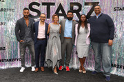 (L-R) Ricky Whittle, Omid Abtahi, Salli Richardson-Whitfield, Mousa Kraish Yetide Badaki and Rodney Barnes attend the Starz FYC Day at The Atrium at Westfield Century City on June 02, 2019 in Los Angeles, California.