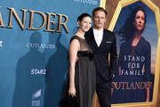 "Caitriona Balfe and Sam Heughan attend the Starz Premiere event for ""Outlander"" Season 5 at Hollywood Palladium on February 13, 2020 in Los Angeles, California."