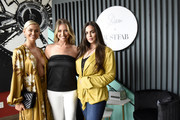 (L-R) Lala Kent, Stassi Schroeder, and Kate Maloney pose as Stassi Schroeder presents: Outfit Of The Day Collection exclusively on JustFab, on #NationalOOTDDay at Norah on June 25, 2019 in West Hollywood, California.