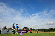 Colin Montgomerie of Scotland in action during Day Three of The Staysure PGA Seniors Championship at The London Club on August 4, 2018 in Ash, England.