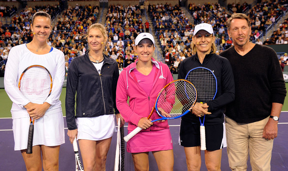 Steffi Graf and Lindsay Davenport - Hit for Haiti