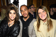 (L-R) Carine Roitfeld, Lewis Hamilton and Anna Dello Russo attend the Stella McCartney show as part of the Paris Fashion Week Womenswear Fall/Winter 2019/2020  on March 04, 2019 in Paris, France.