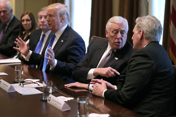 Steny Hoyer President Trump Meets With Bipartisan Group of Senators on Immigration