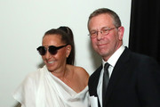 Donna Karan and honoree Joel Towers attend the Stephan Weiss Apple Awards at Urban Zen on October 24, 2018 in New York City.