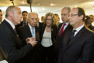 Stephane Richard Francois Hollande Visits West Bank