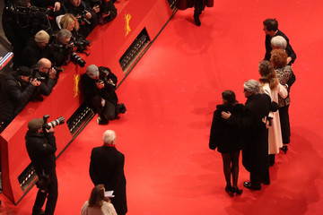 Stephanie Zacharek Chema Prado Closing Ceremony - Red Carpet Arrivals - 68th Berlinale International Film Festival