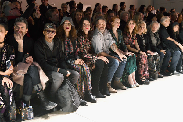 Anna Sui - Front Row - February 2019 - New York Fashion Week: The Shows [shows,people,social group,fashion,event,audience,crowd,fashion design,team,sitting,runway,anna sui,front row,the shows,front row,gallery i,new york city,spring studios,new york fashion week,fashion show]