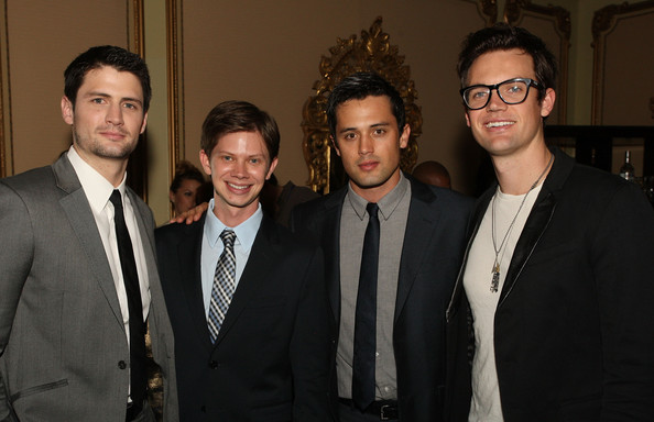 Stephen Colletti (L-R) Actors James Lafferty, Lee Norris, Stephen Colletti and Tyler Hilton attend the 'One Tree Hill' Final Season cocktail reception during the CW portion of the 2012 Television Critics Association Press Tour at The Langham Huntington Hotel and Spa on January 12, 2012 in Pasadena, California.
