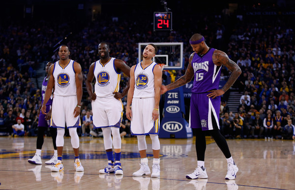 low priced edacf 44a4c Stephen Curry and DeMarcus Cousins Photos Photos ...