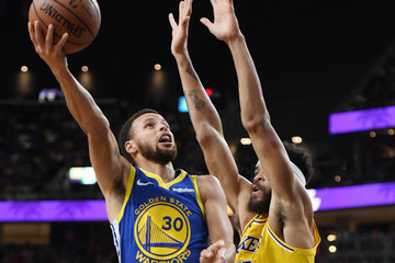 Stephen Curry Javale Mcgee Golden State Warriors vs. Los Angeles Lakers