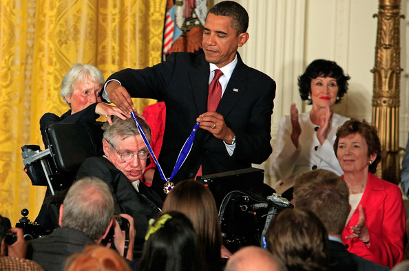 Image result for presidential medal of freedom stephen hawking